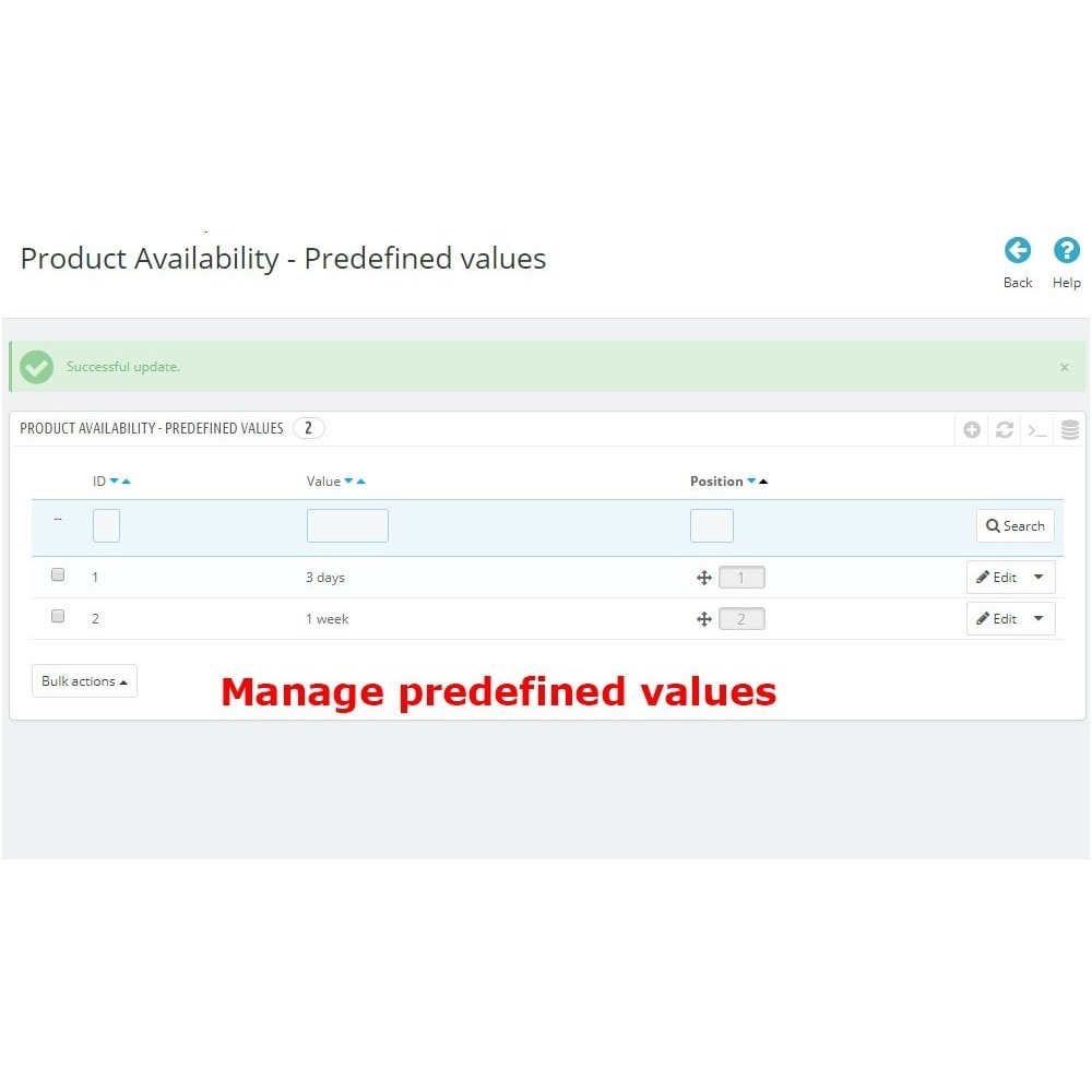 module - Altre informazioni & Product Tab - Product Availability - 5