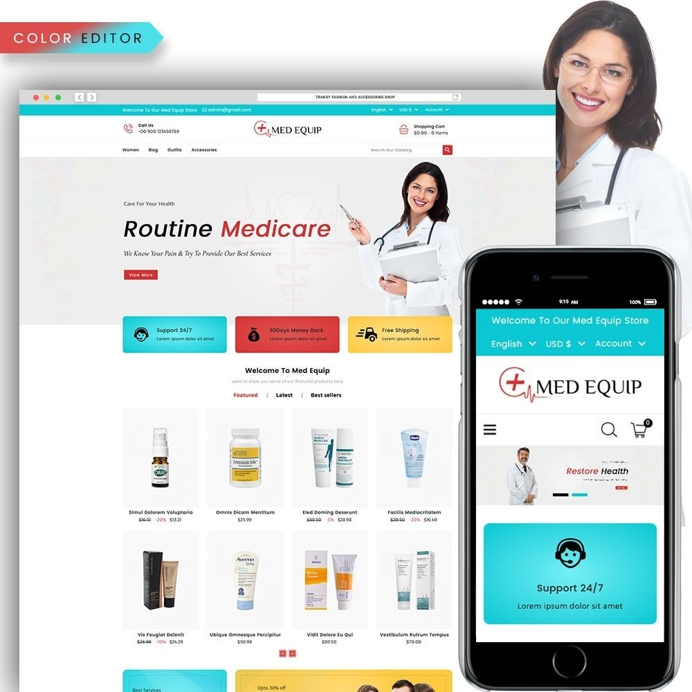 theme - Santé & Beauté - Health and Medical Equipment Store - 1