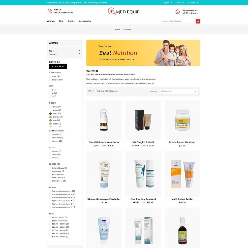 theme - Santé & Beauté - Health and Medical Equipment Store - 5