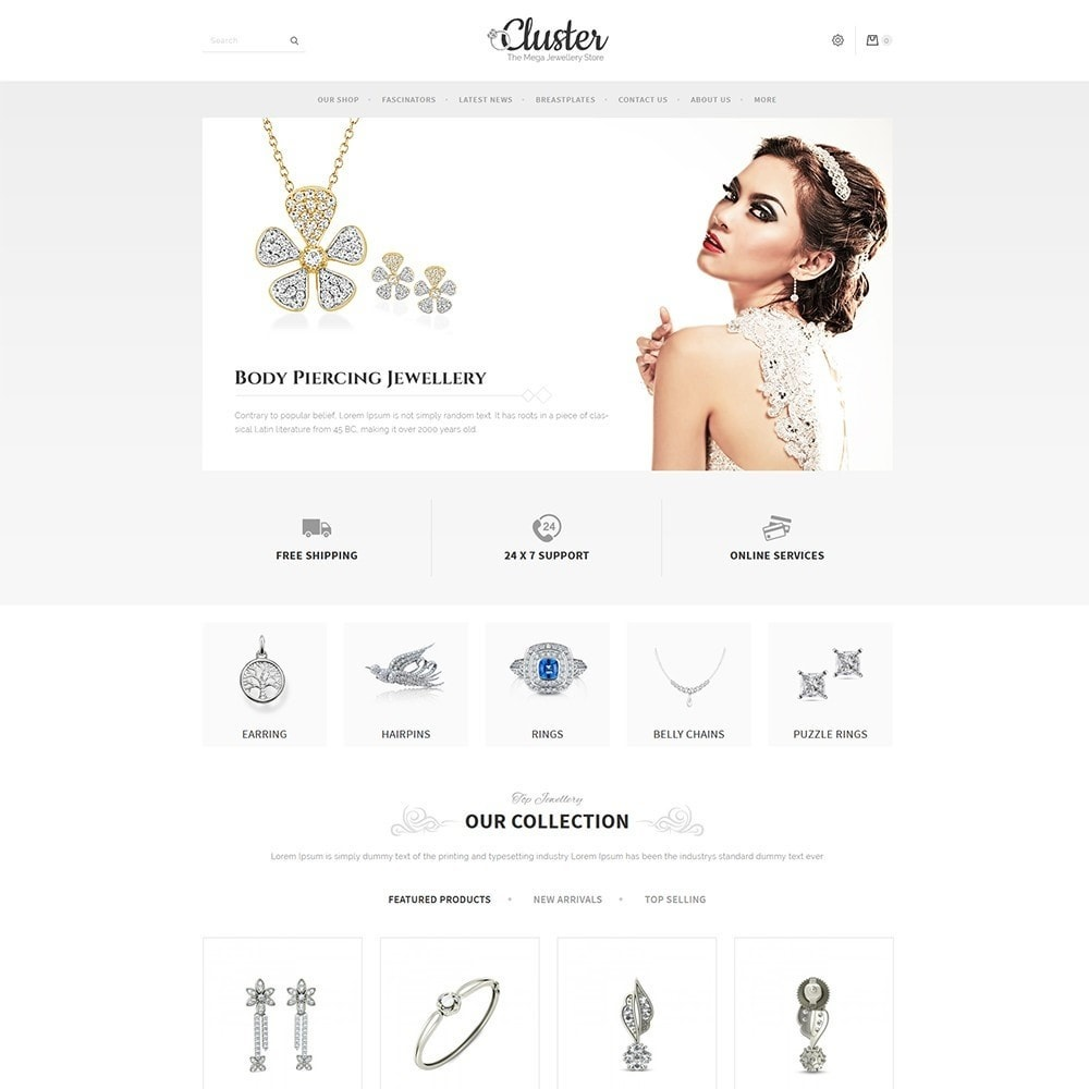 theme - Jewelry & Accessories - Cluster Jewellery Store - 2