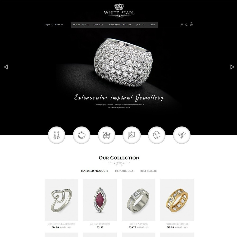 theme - Bellezza & Gioielli - White pearl Jewellery Shop - 2