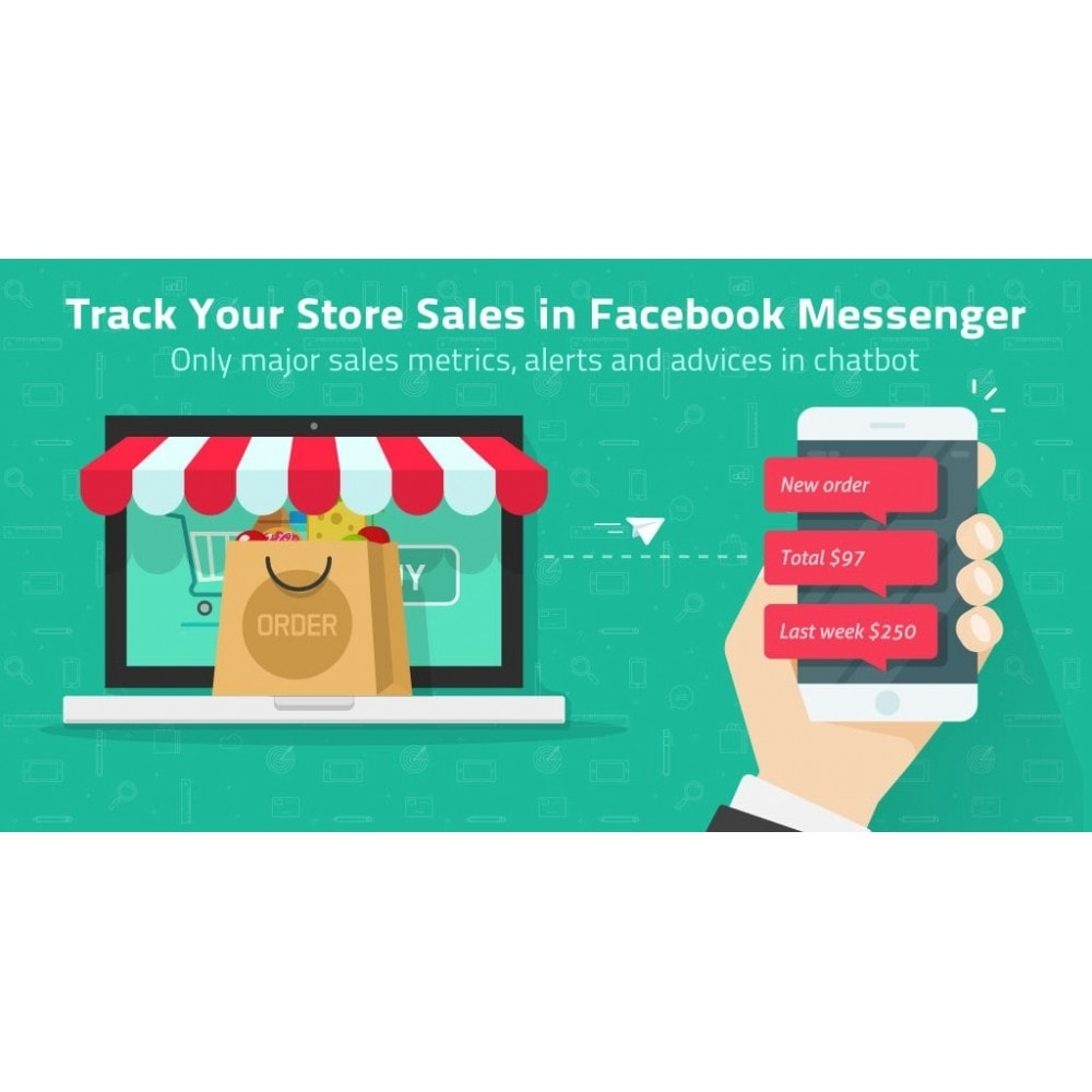 module - E-mails & Notifications - Track Store Sales in FB Messenger or Telegram Chatbot - 2