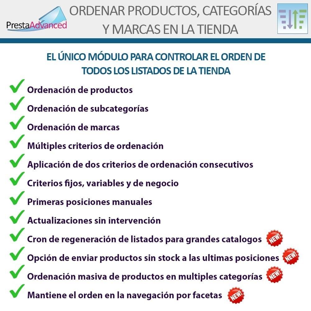 module - Personalización de la página - Ordenar productos, categorías y marcas en la tienda - 2