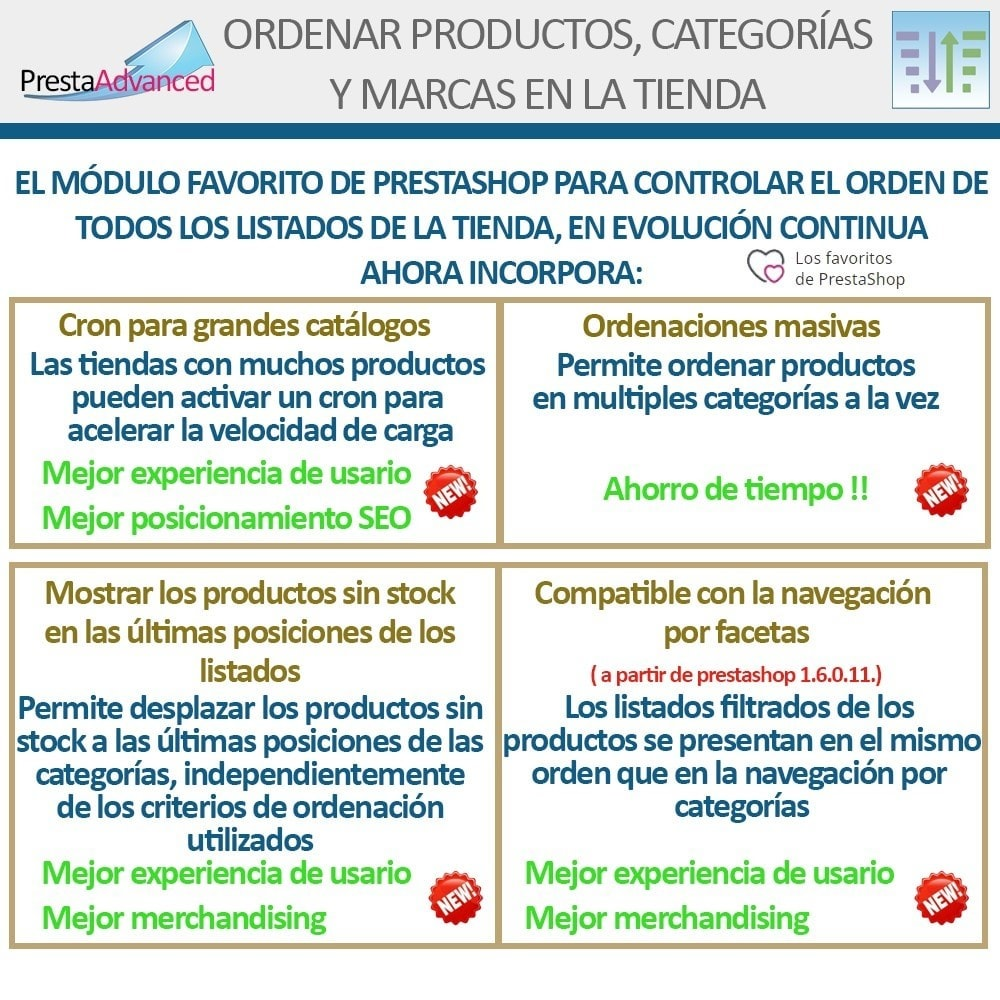 module - Personalización de la página - Ordenar productos, categorías y marcas en la tienda - 3
