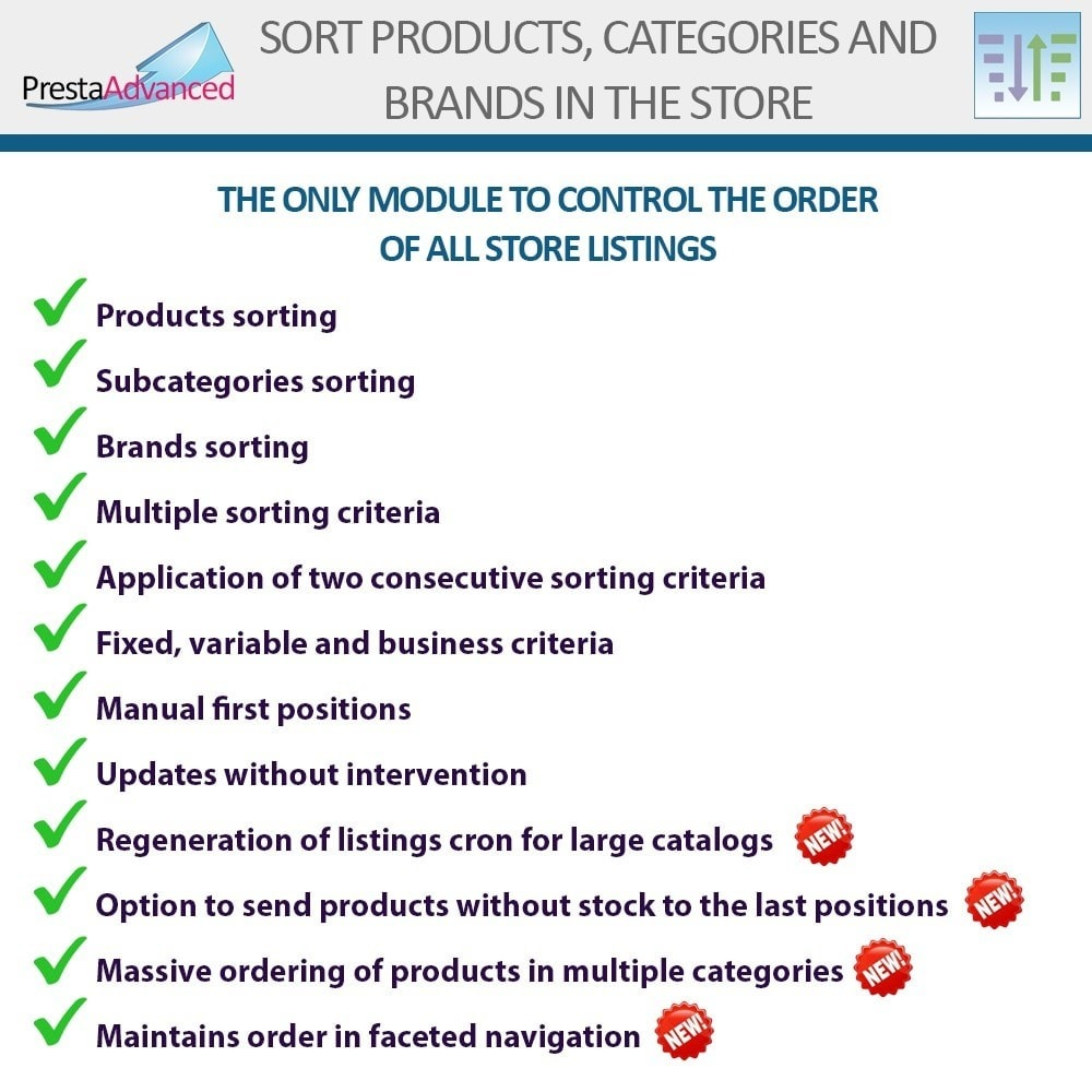 module - Page Customization - Sort products, categories and brands in the store - 2