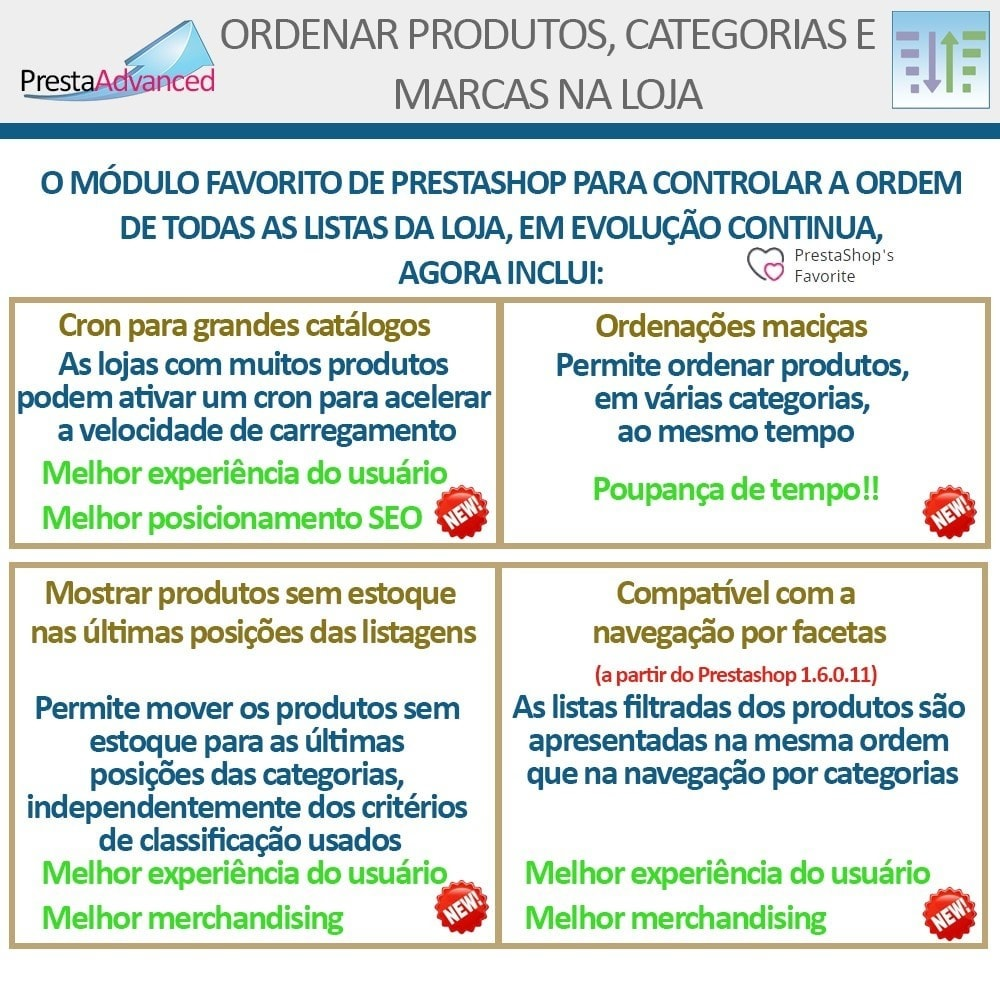 module - Personalização de página - Ordenar produtos, categorias e marcas na loja - 3