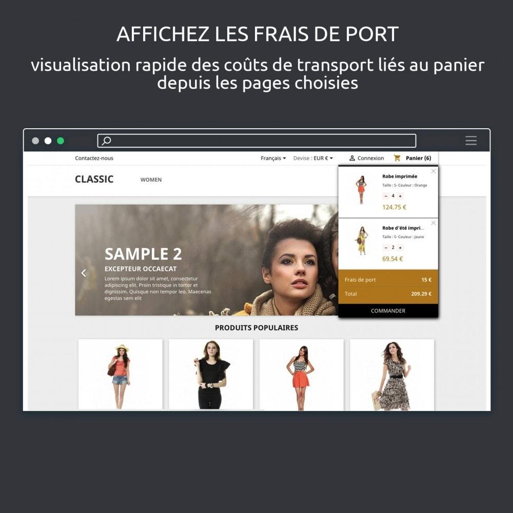 module - Fonctionnalités Front office - Panier au Survol PS 1.7 : afficher le panier - 6