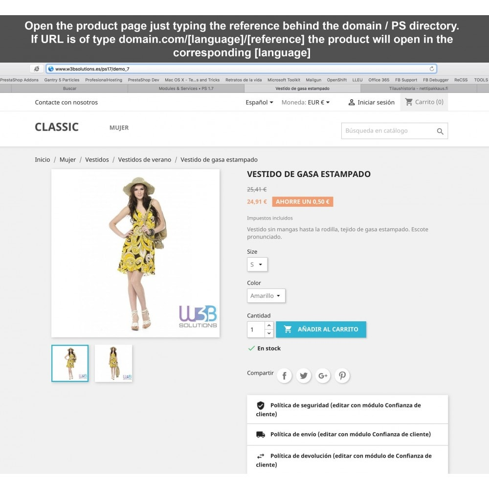 module - URL & Omleidingen - Redirect reference in URL to product page - 1
