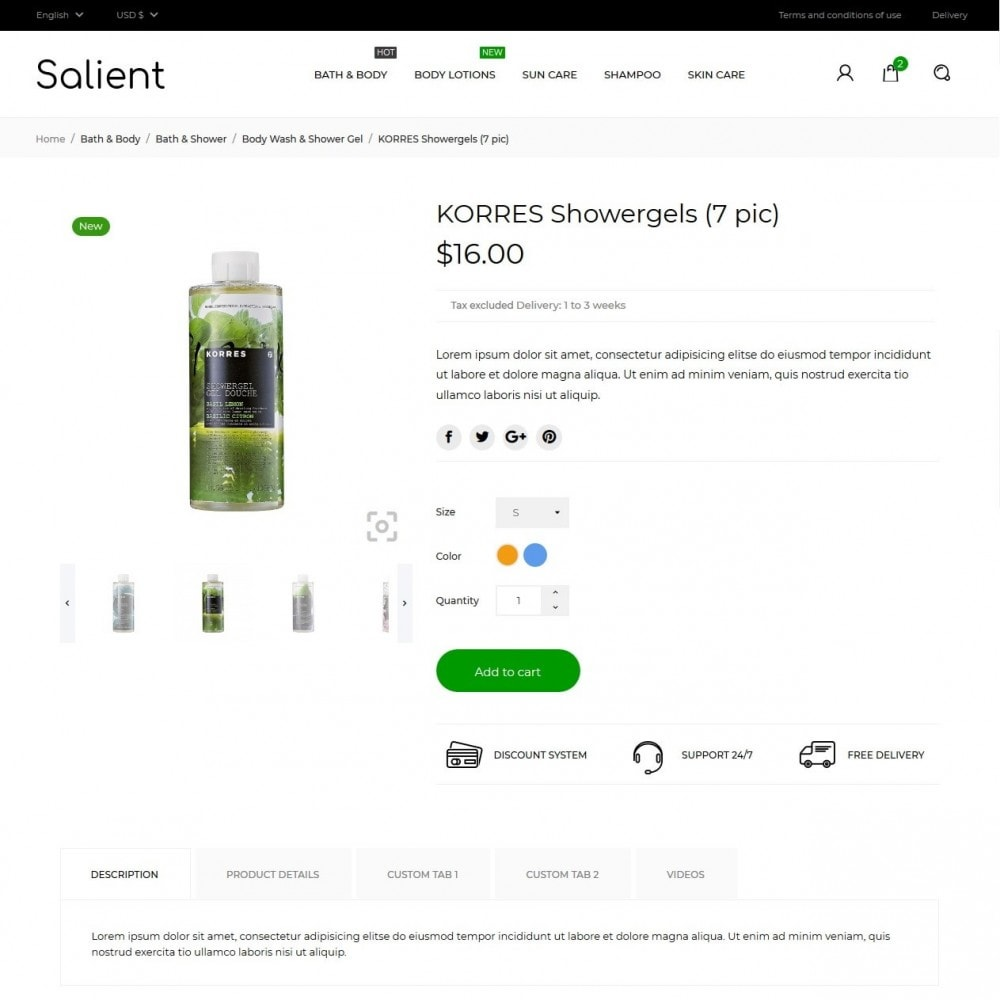 theme - Zdrowie & Uroda - Salient Cosmetics - 5