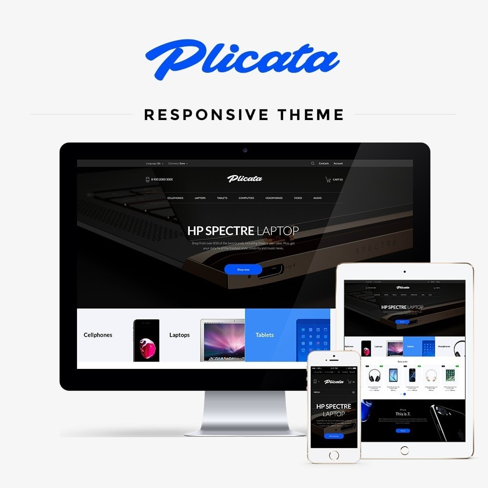 theme - Электроника и компьютеры - Plicata - High-tech Shop - 1
