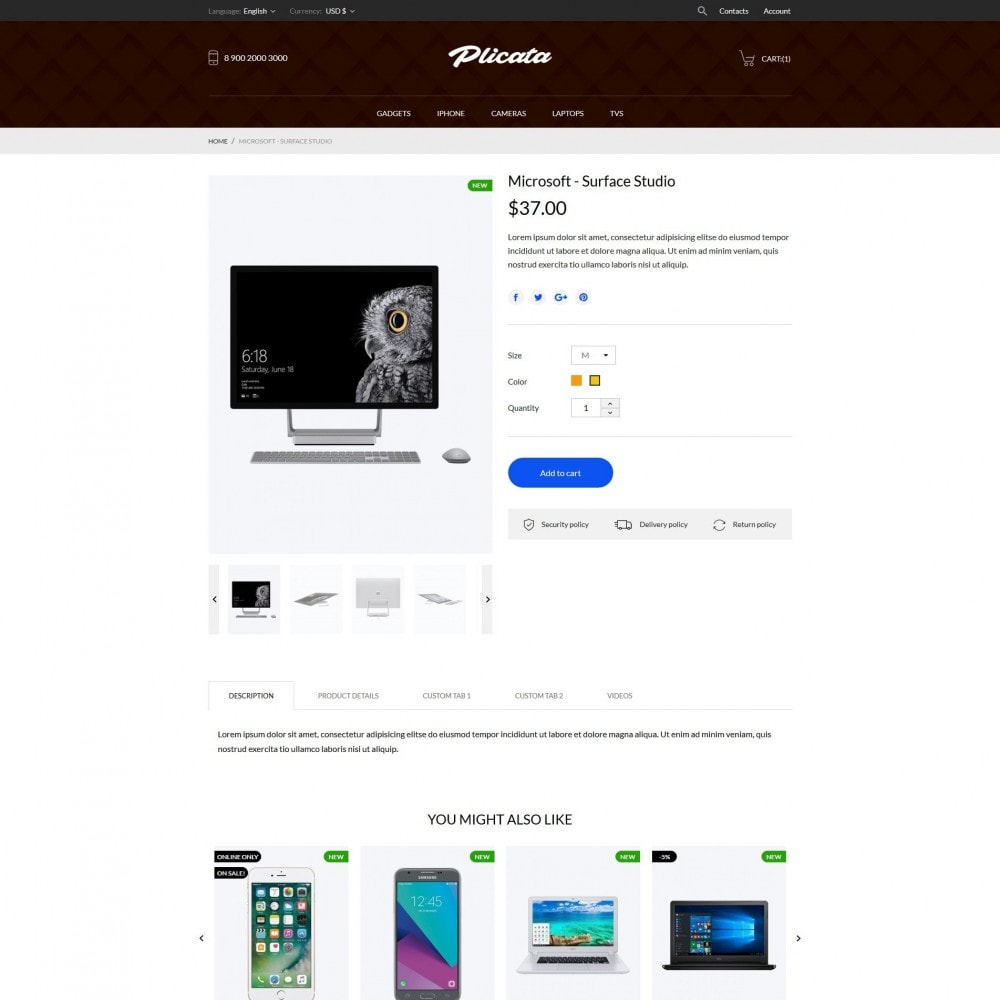 theme - Электроника и компьютеры - Plicata - High-tech Shop - 6