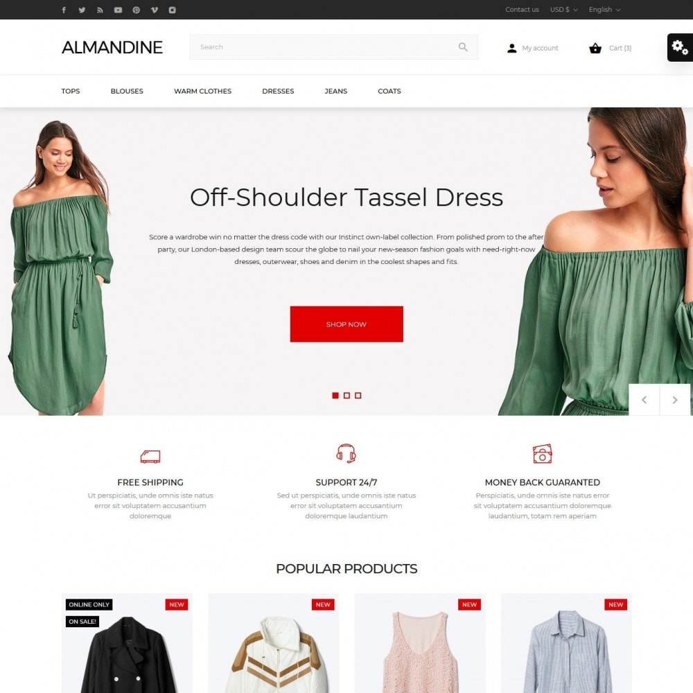 theme - Moda & Calzature - Almandine Fashion Store - 2