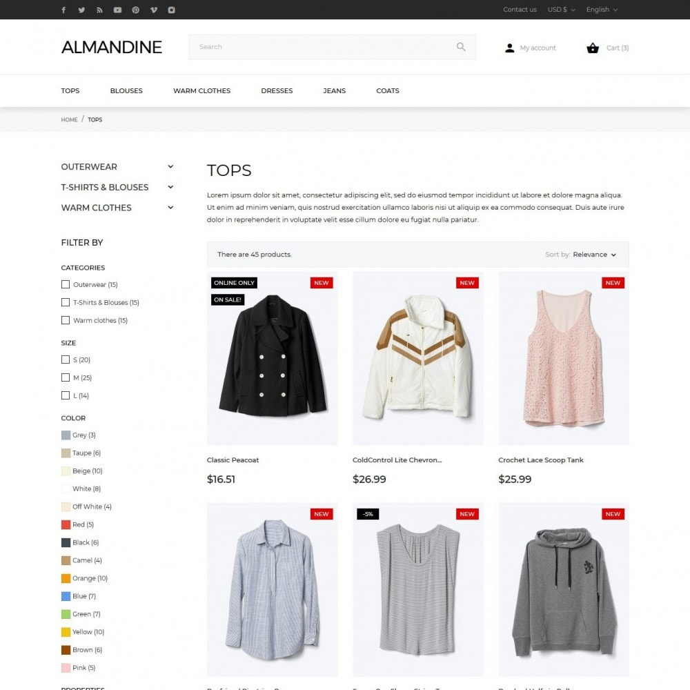 theme - Moda & Calzature - Almandine Fashion Store - 6