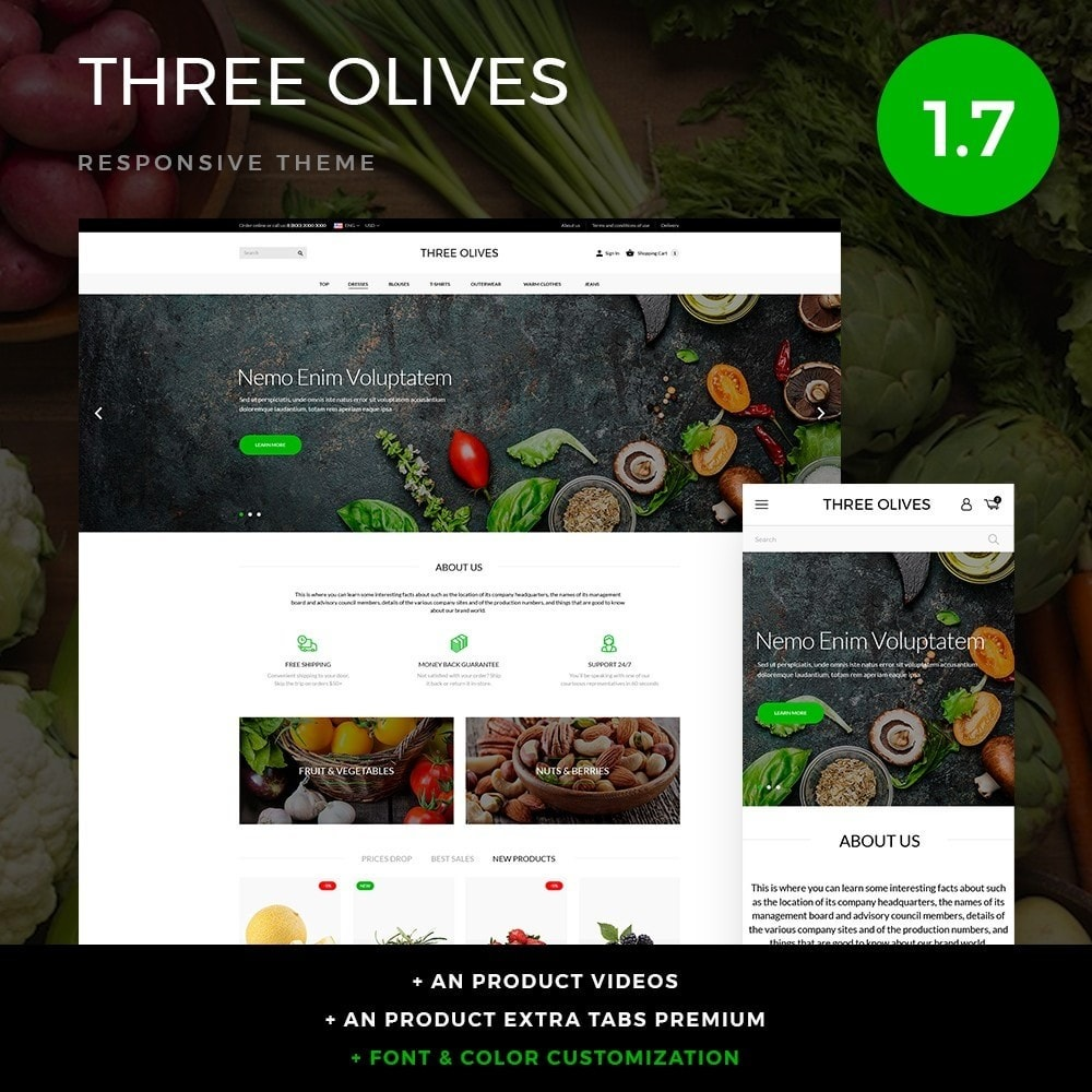 theme - Alimentation & Restauration - Three olives Cosmetics - 1