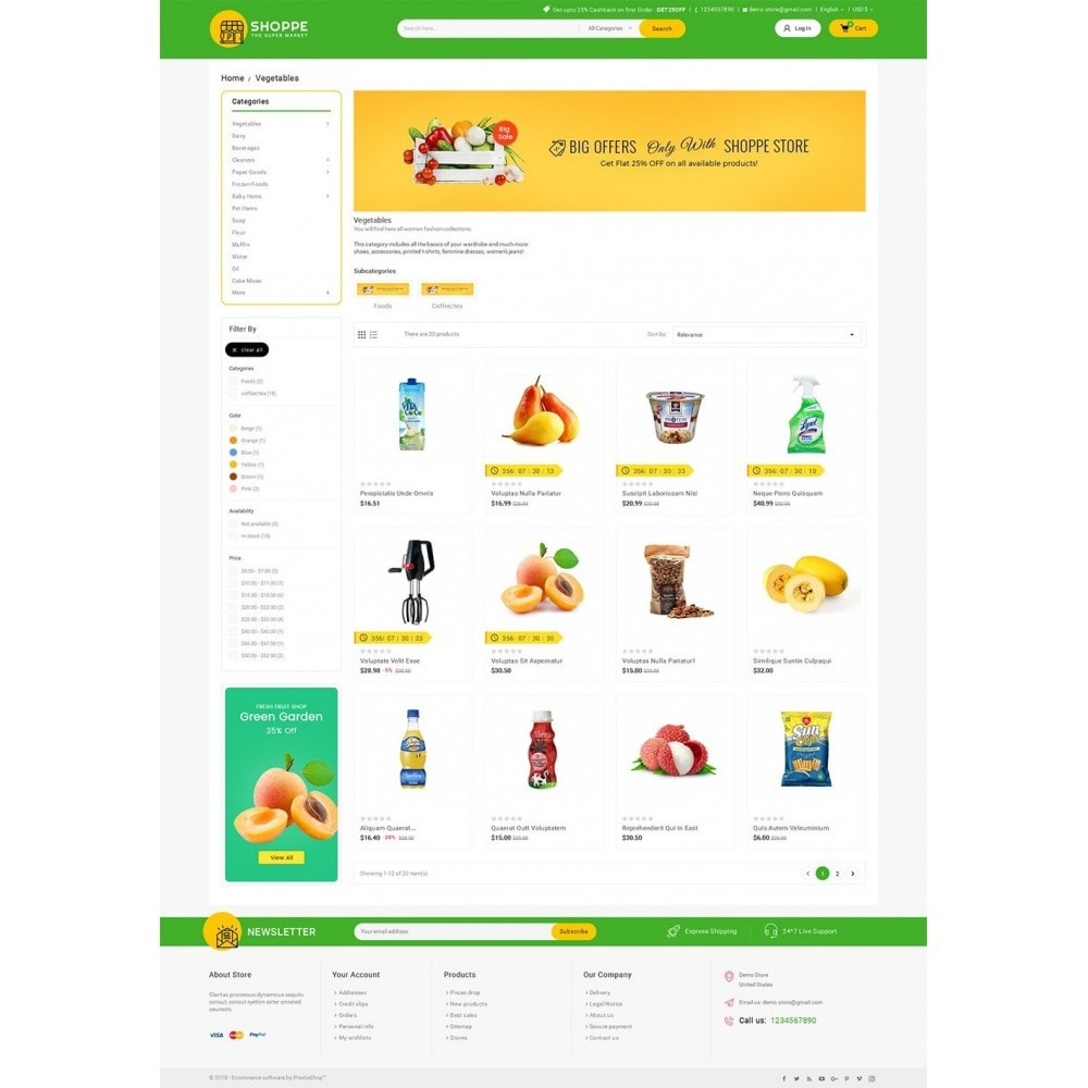 theme - Alimentation & Restauration - Mega Shoppe Grocery - 3