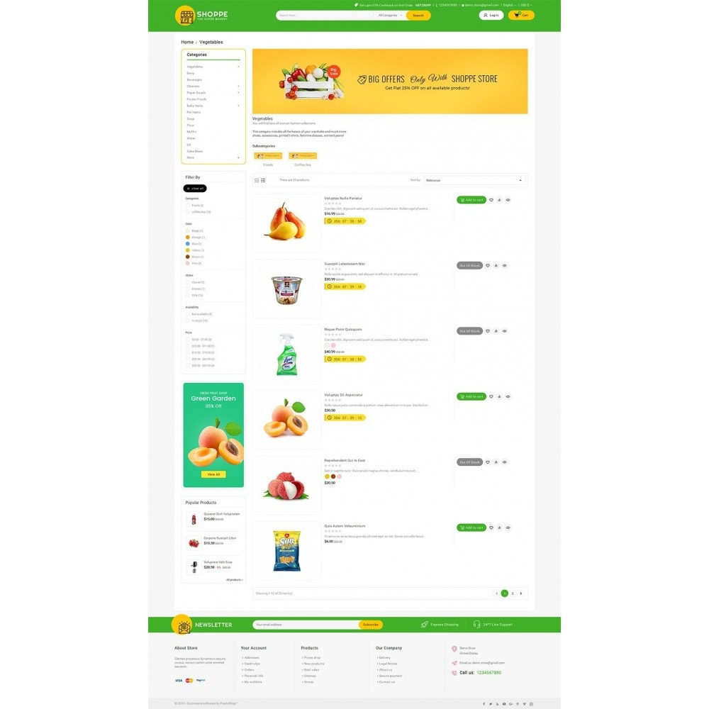 theme - Alimentation & Restauration - Mega Shoppe Grocery - 4