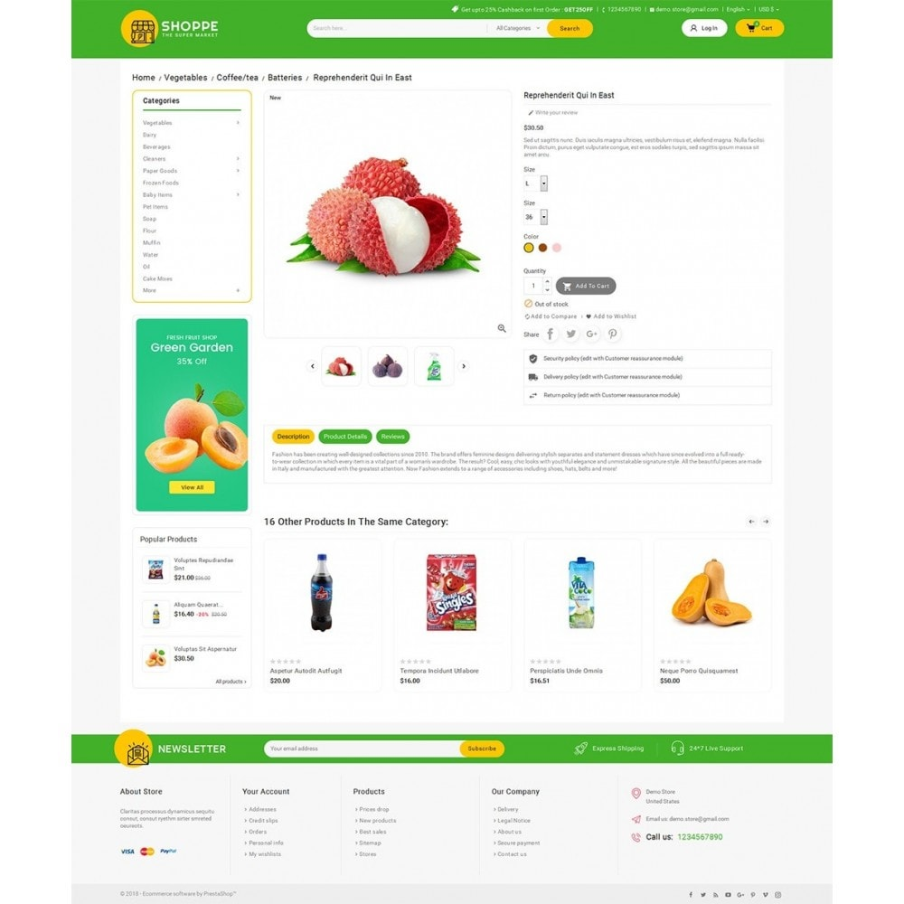 theme - Alimentation & Restauration - Mega Shoppe Grocery - 5
