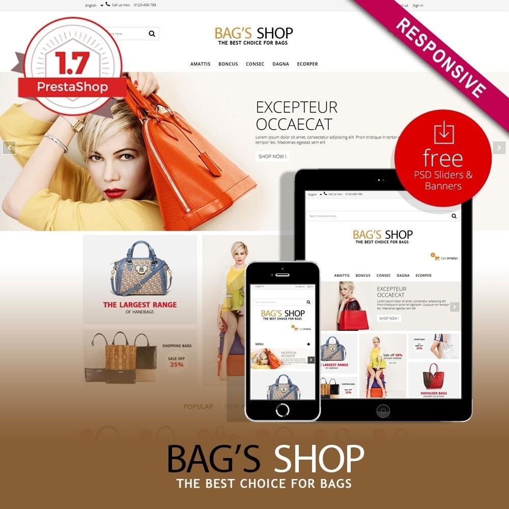 theme - Jewelry & Accessories - Bags shop Multipurpose HTML5 - 1