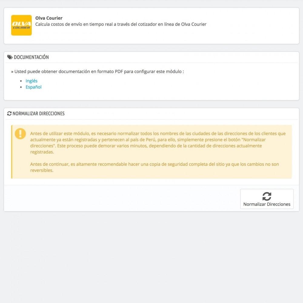 module - Versanddienstleister - Olva Courier - 2