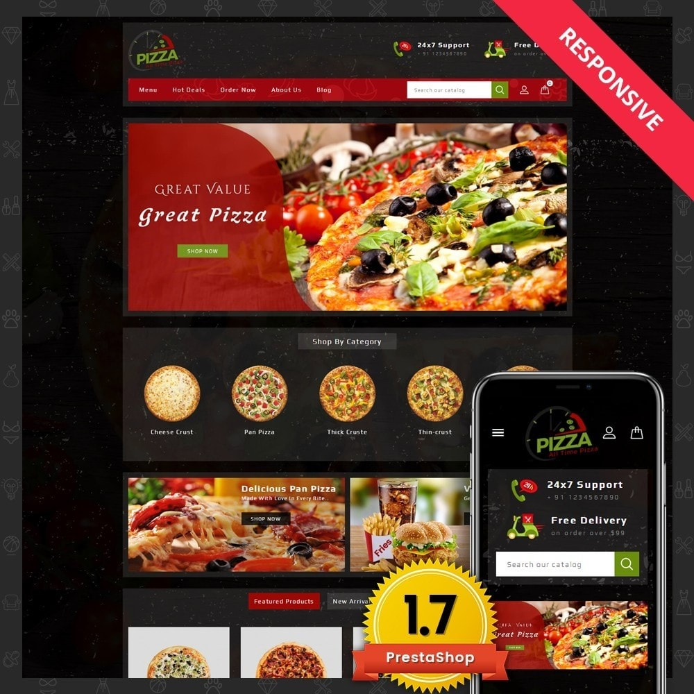 theme - Lebensmittel & Restaurants - Pizza Store - 1
