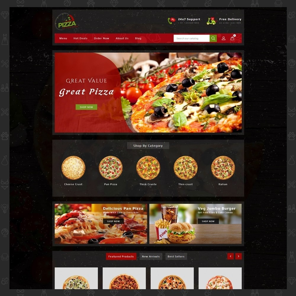 theme - Lebensmittel & Restaurants - Pizza Store - 2