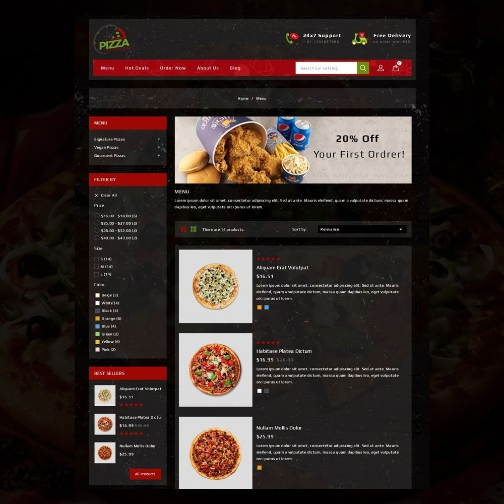 theme - Lebensmittel & Restaurants - Pizza Store - 5