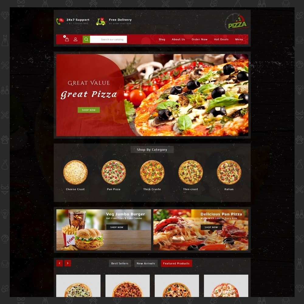 theme - Lebensmittel & Restaurants - Pizza Store - 11
