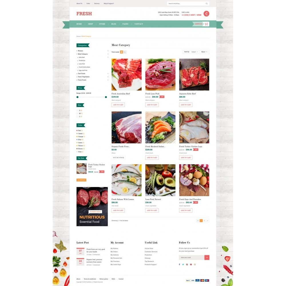 theme - Alimentation & Restauration - Fresh Store - 9