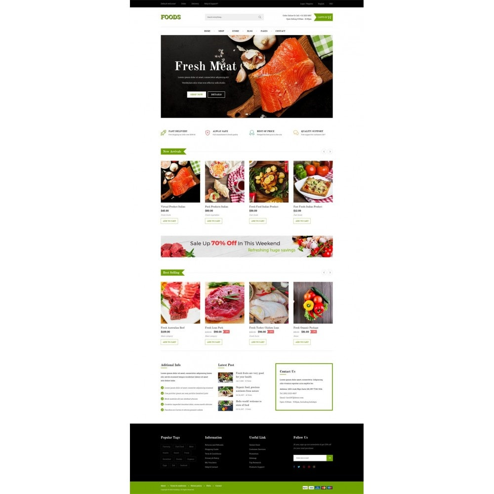 theme - Alimentos & Restaurantes - Food Shop - 6