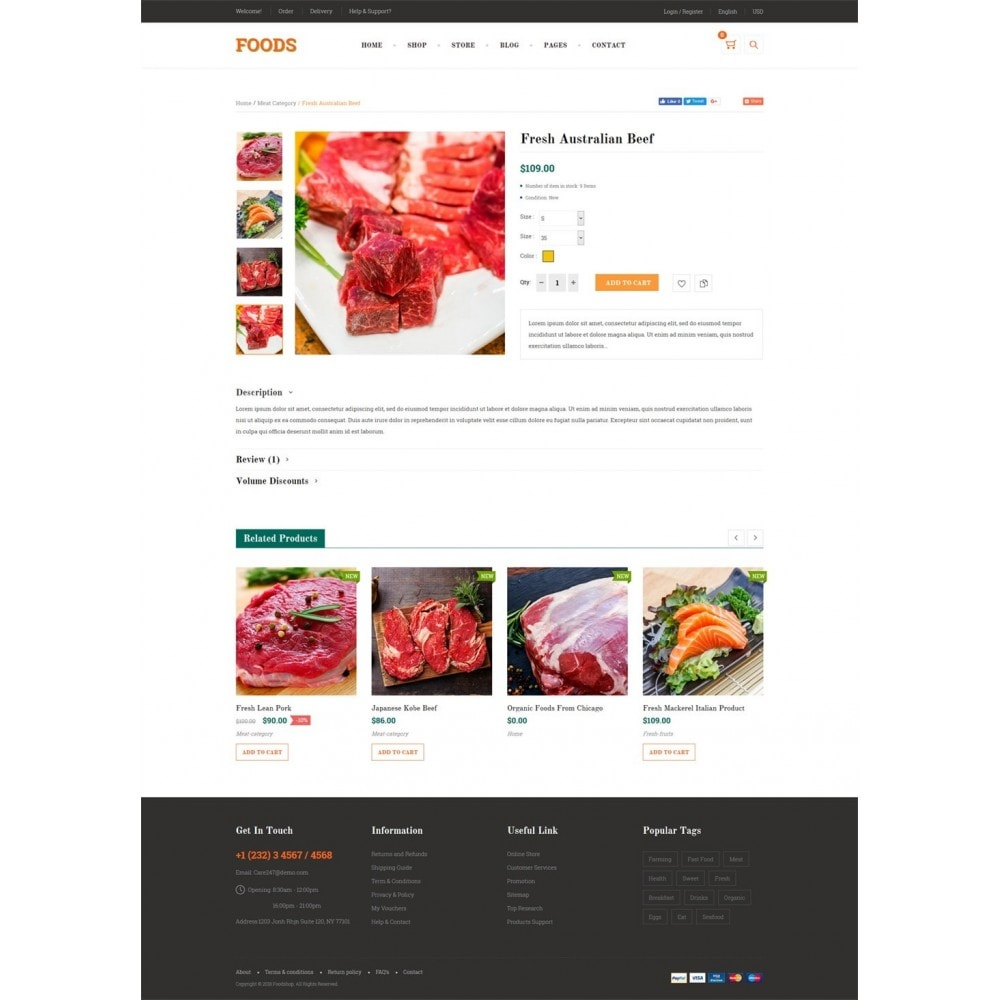theme - Alimentos & Restaurantes - Food Shop - 9