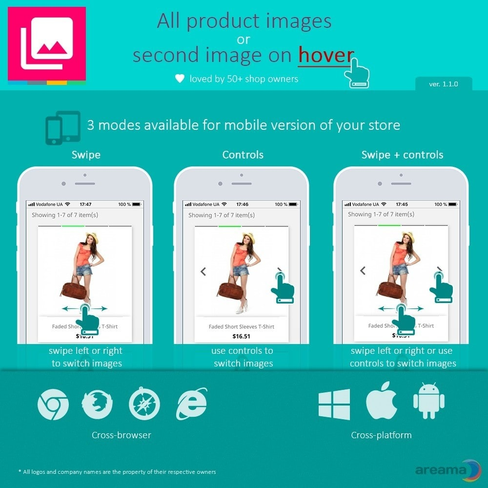 module - Visual Products - All product images or second image on hover - 3