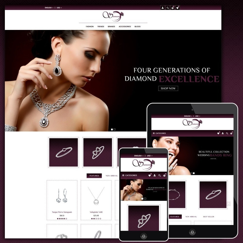 theme - Biżuteria & Akcesoria - Diamond Jewellery Shop - 1