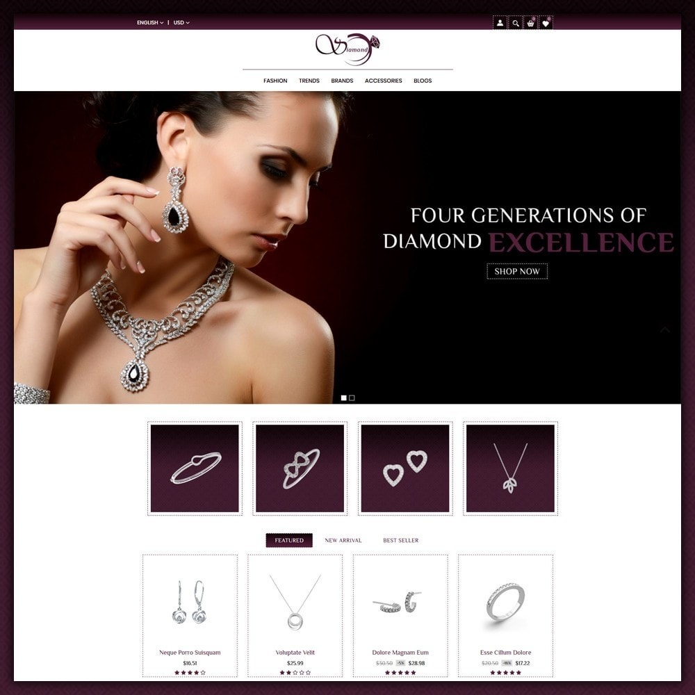 theme - Biżuteria & Akcesoria - Diamond Jewellery Shop - 2