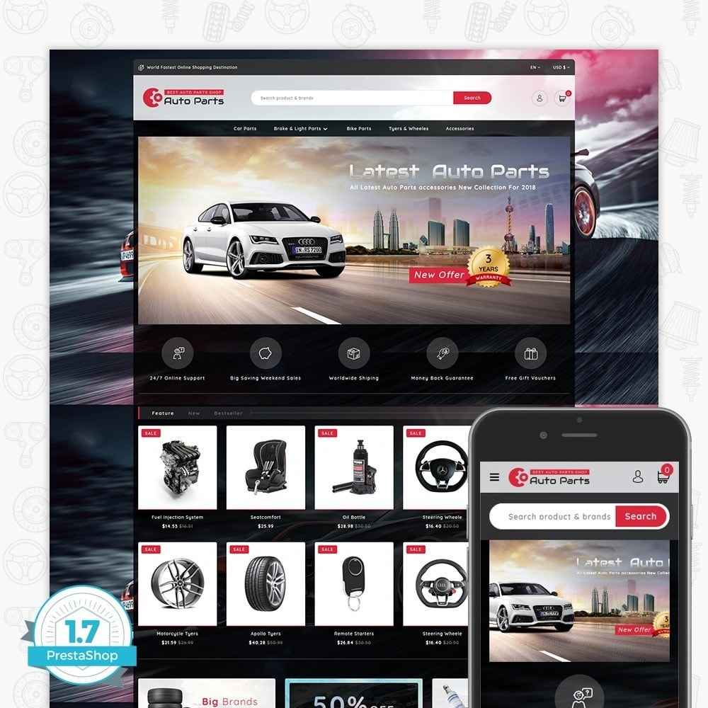 theme - Automotive & Cars - Auto Store - 1