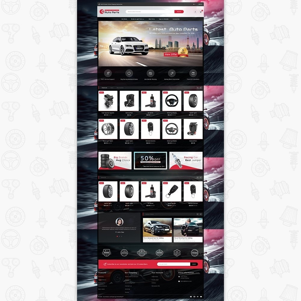 theme - Automotive & Cars - Auto Store - 2