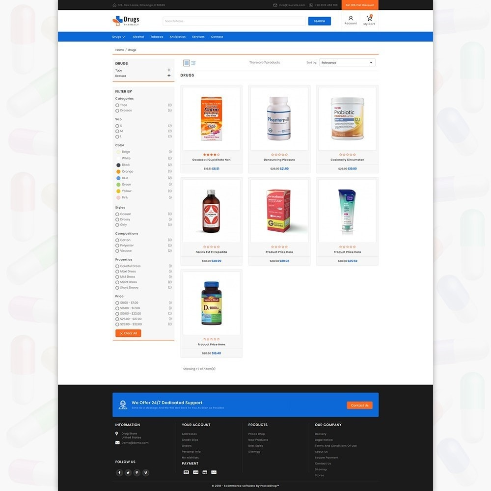 theme - Temas PrestaShop - DrugStore - 3