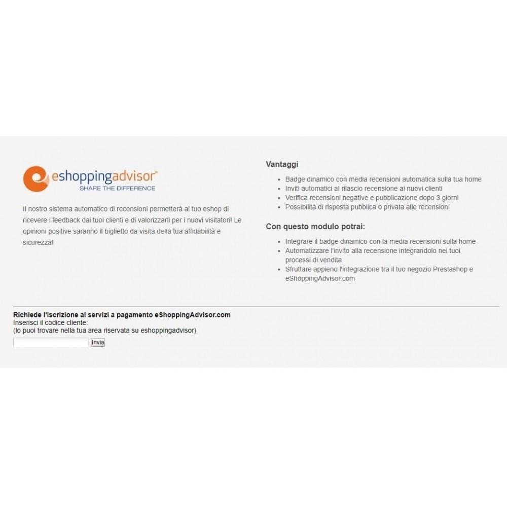 module - SEO (référencement naturel) - Review certificate module of eShoppingAdvisor.com - 1