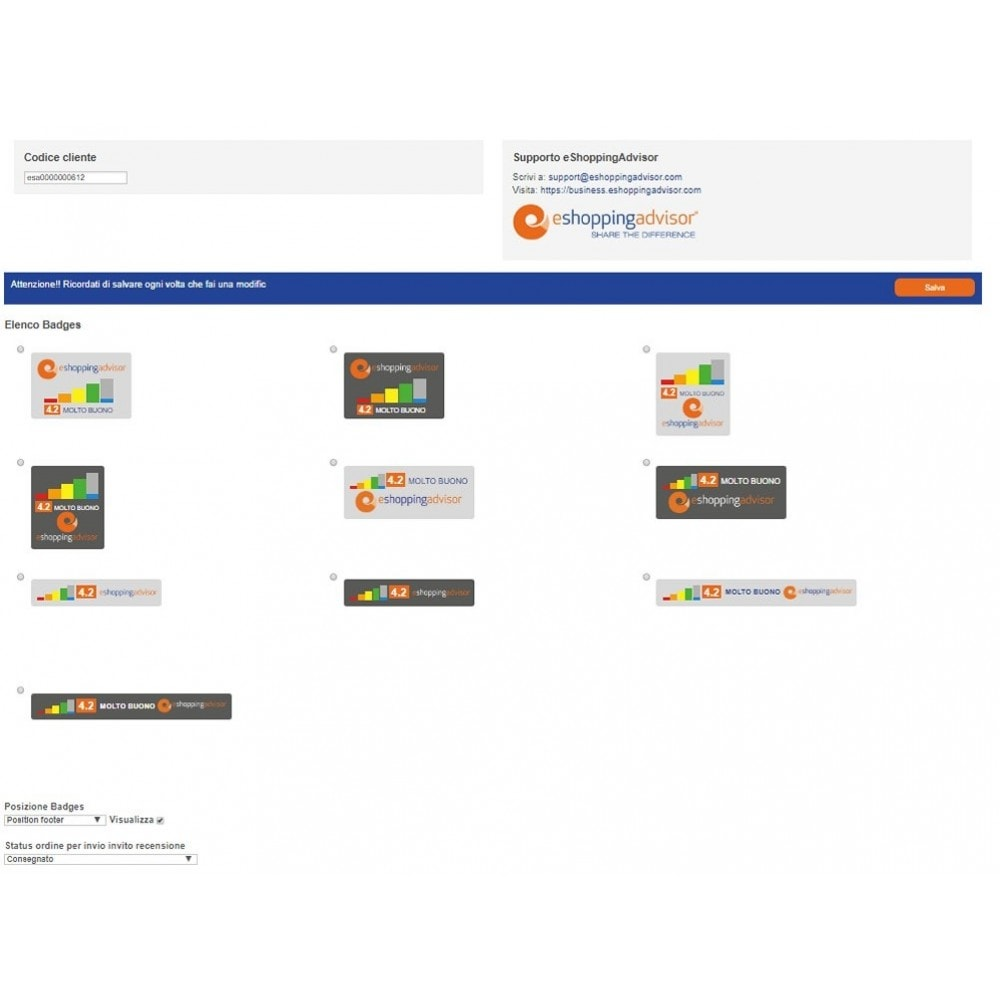 module - SEO (référencement naturel) - Review certificate module of eShoppingAdvisor.com - 2
