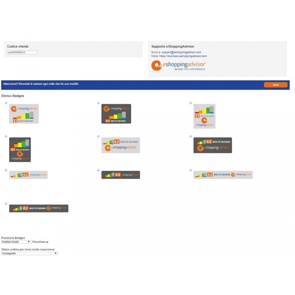 module - SEO (Posicionamiento en buscadores) - Revise el módulo de certificado de eShoppingAdvisor.com - 2