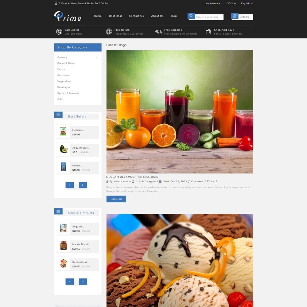 theme - Lebensmittel & Restaurants - Prime Grocery Store - 10