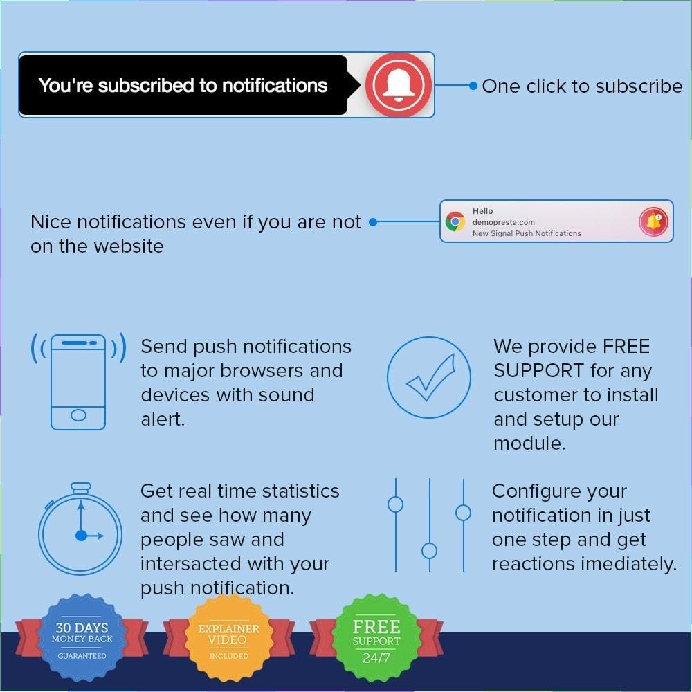 module - электронные письма и уведомления - One Signal Push Notifications - 2