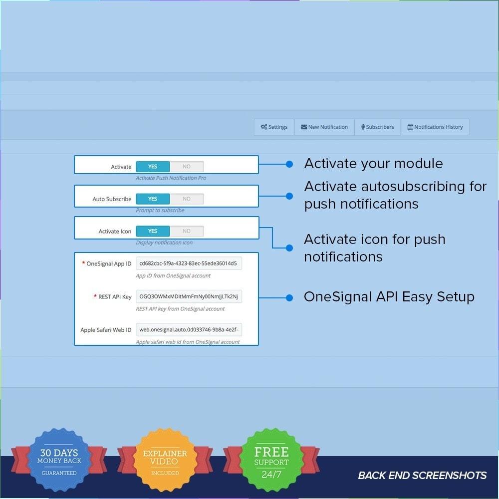 module - электронные письма и уведомления - One Signal Push Notifications - 3