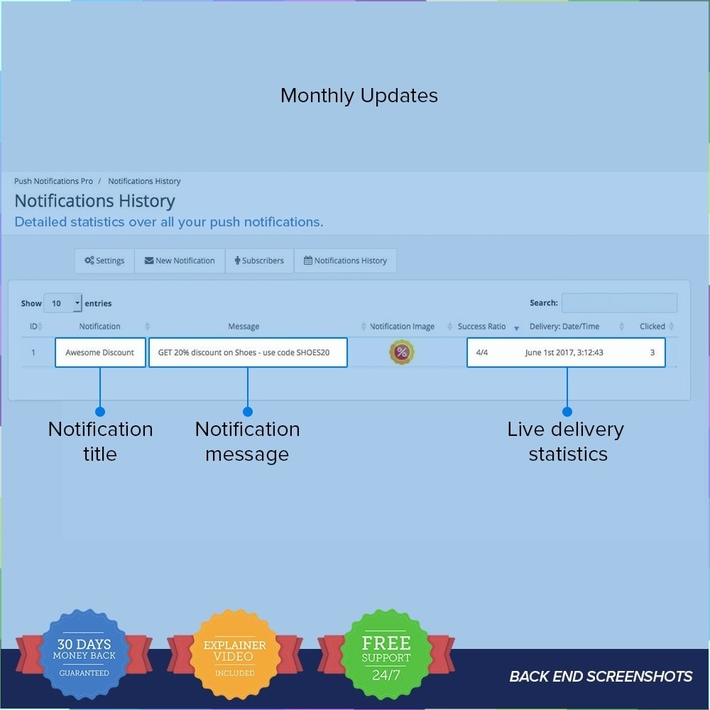 module - электронные письма и уведомления - One Signal Push Notifications - 5
