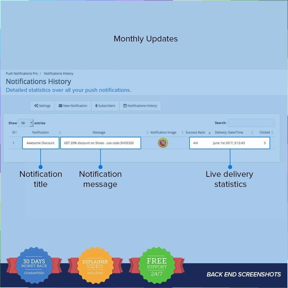 module - E-mails & Notícias - One Signal Push Notifications - 5