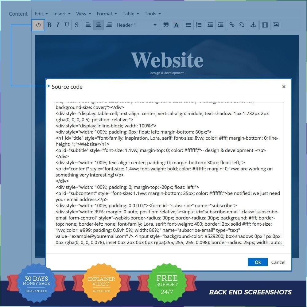 module - Individuelle Seitengestaltung - Custom Maintenance Page - 7