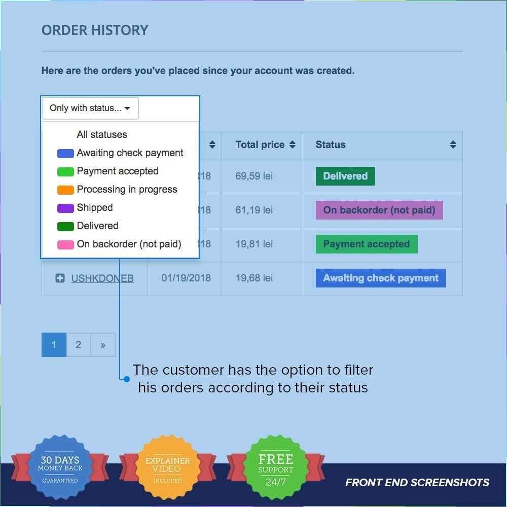 module - Управление заказами - Order history pagination and filter by order status - 3