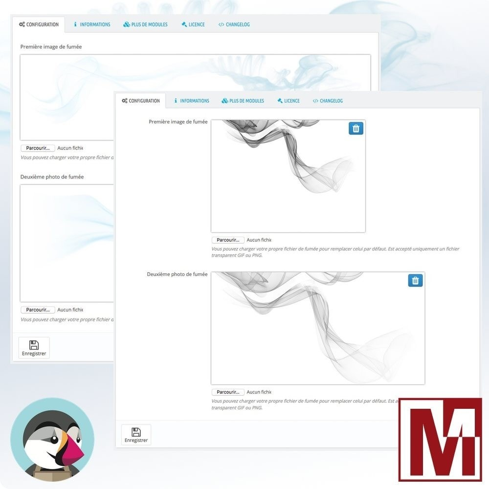 module - Personnalisation de Page - Animation de volutes de fumée sur votre boutique - 3