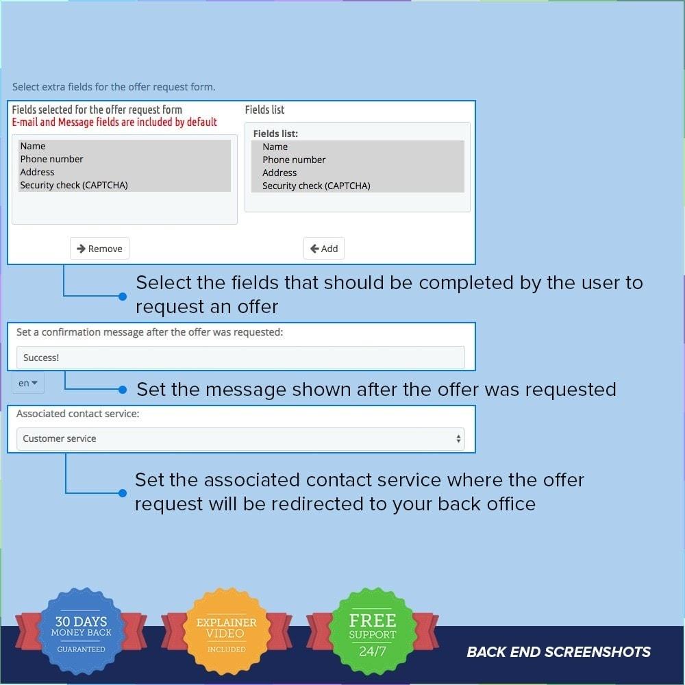 module - Informaciones adicionales y Pestañas - Request Offer / Quotation PRO - 2
