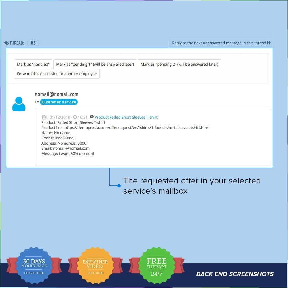 module - Additional Information & Product Tab - Request Offer / Quotation PRO - 5