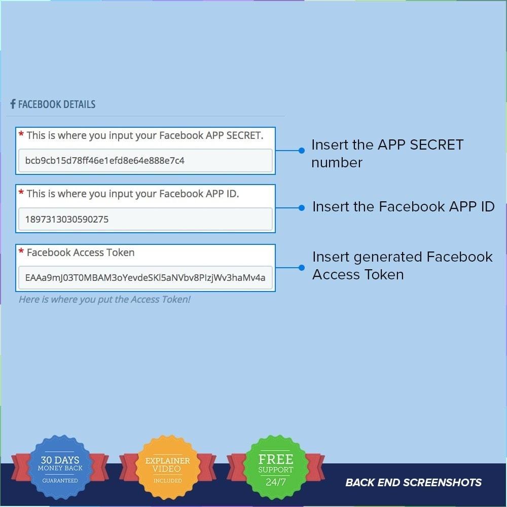module - Produkte in Facebook & sozialen Netzwerken - Social Wall Post PRO - 1
